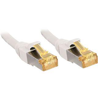 (€13,80*/1m) 0.50m Lindy Cat. 7 Rohkabel Patchkabel S/FTP RJ45 Stecker auf RJ45 Stecker Weiß Klinkenschutz / LSOH