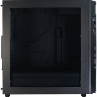 Inter-Tech N21 Crusader mit Sichtfenster Midi Tower ohne Netzteil schwarz