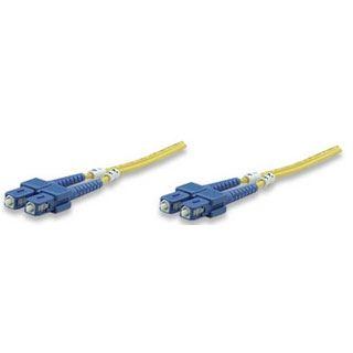 (€2,97*/1m) 3.00m Intellinet LWL Duplex LWL Anschlusskabel 9/125 µm OS2 SC Stecker auf SC Stecker Gelb LSOH
