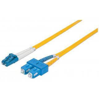 (€4,45*/1m) 2.00m Intellinet LWL Duplex LWL Anschlusskabel 9/125 µm OS2 LC Stecker auf SC Stecker Gelb LSOH