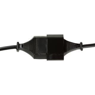(€2,45*/1m) 2.00m LogiLink Stromadapterkabel Euro Stecker auf Euro Buchse Schwarz