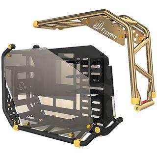 IN WIN D-Frame 2.0 mit Sichtfenster Big Tower 1065 Watt schwarz/gold-platin