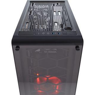 Corsair Crystal 460X mit Sichtfenster Midi Tower ohne Netzteil schwarz