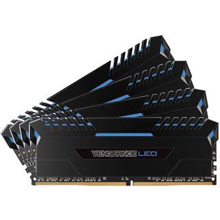 32GB Corsair Vengeance LED blau DDR4-3000 DIMM CL15 Quad Kit