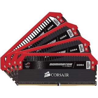 32GB Corsair Dominator Platinum ROG Edition DDR4-3200 DIMM CL16 Quad Kit