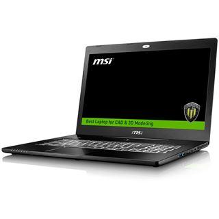 "Notebook 17.3"" (43,94cm) MSI WS72-6QI161FD i76700HQ 16GB 1TB M1000M FreeDOS"