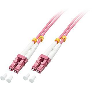 (€4,78*/1m) 5.00m Lindy LWL Duplex LWL Anschlusskabel 50/125 µm OM4 LC Stecker auf LC Stecker Violett halogenfrei