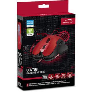 Speedlink Contus Gaming USB schwarz/rot (kabelgebunden)
