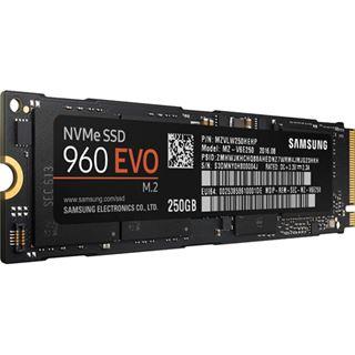 250GB Samsung 960 Evo M.2 2280 NVMe PCIe 3.0 x4 32Gb/s 3D-NAND TLC Toggle (MZ-V6E250BW)