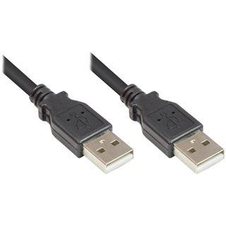 1.50m Good Connections USB2.0 Anschlusskabel USB A Stecker auf USB A Stecker Schwarz