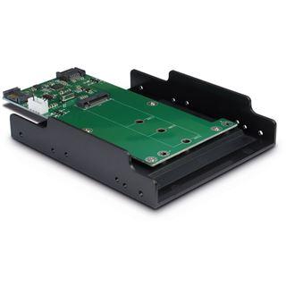 """Inter-Tech Adapter KT023B, SATA zu M.2 SATA + SATA, 3,5"""" Tray"""