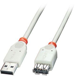 (€4,90*/1m) 1.00m Lindy USB2.0 Verlängerungskabel USB A Stecker auf USB A Buchse Grau Knickschutzelement