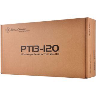 Silverstone SST-PT13B-120 Petit Thin-Mini-ITX-Gehäuse + 120W Netzteil