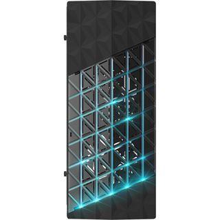 Azza Onyx 260 mit Sichtfenster Midi Tower ohne Netzteil schwarz