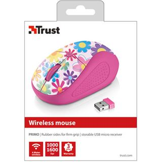 Trust Primo Pink Flowers USB pink (kabellos)