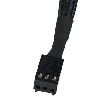 Phobya Adapter 3Pin (12V) auf 3Pin (7V) 20cm - Schwarz