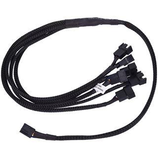 Phobya Y-Kabel 4Pin PWM auf 6x 4Pin PWM 60cm - Schwarz