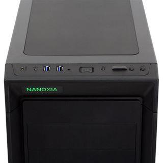 Nanoxia CoolForce 1 schallgedämmt Midi Tower ohne Netzteil schwarz