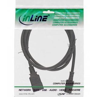 (€8,90*/1m) 1.00m InLine Stromadapterkabel C20 Buchse auf C13 Stecker Schwarz Polybag