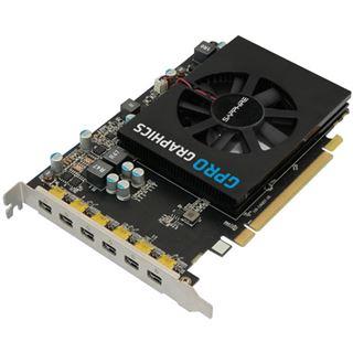 4GB Sapphire GPRO 6200 Aktiv PCIe 3.0 x16 (Bulk)