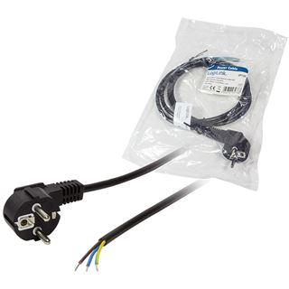 (€3,27*/1m) 1.50m LogiLink Stromadapterkabel Schutzkontakt Stecker auf ohne Stecker Schwarz