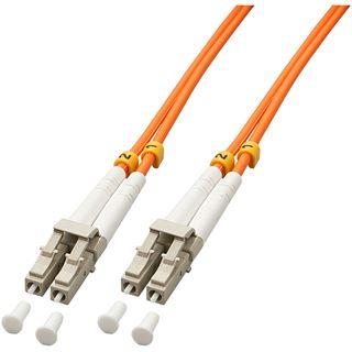 (€4,45*/1m) 2.00m Lindy LWL Duplex LWL Anschlusskabel 50/125 µm OM2 LC Stecker auf LC Stecker Orange LSOH