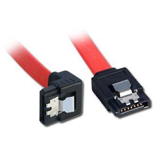 (€9,80*/1m) 0.50m Lindy SATA 6Gb/s Anschlusskabel gewinkelt oben SATA Stecker auf SATA Stecker gewinkelt Rot/Schwarz
