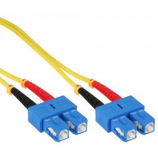 (€3,30*/1m) 3.00m InLine LWL Duplex LWL Anschlusskabel 9/125 µm OS2 SC Stecker auf SC Stecker Gelb LSZH