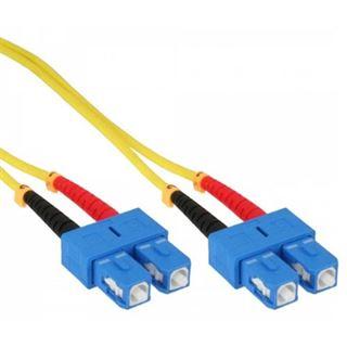 (€17,80*/1m) 0.50m InLine LWL Duplex LWL Anschlusskabel 9/125 µm OS2 SC Stecker auf SC Stecker Gelb LSOH / Polybag