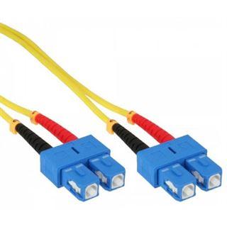 (€1,59*/1m) 7.50m InLine LWL Duplex LWL Anschlusskabel 9/125 µm OS2 SC Stecker auf SC Stecker Gelb LSOH / Polybag