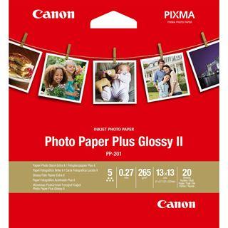Canon PHOTO PAPER PLUS GLOSSY PP-201 13x13CM 20BL. #2311B060, Kapazität: 20 BLA