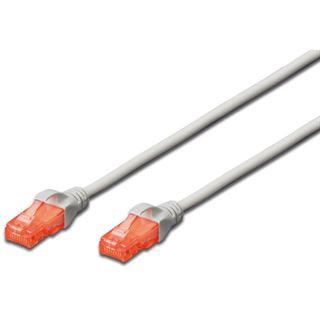 (€1,95*/1m) 2.00m Digitus Cat. 6 Patchkabel U/UTP RJ45 Stecker auf RJ45 Stecker Grau Knickschutzelement / Polybag