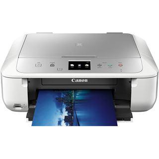 Canon Pixma MG6853 Tintenstrahl-Multifunktionsgerät silber/weiß (A4, 3in1 Drucker, Kopierer, Scanner, Duplex, USB, WLAN)