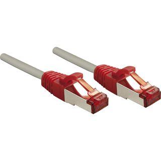 (€1,45*/1m) 7.50m Lindy Cat. 6 Patchkabel Crossover S/FTP RJ45 Stecker auf RJ45 Stecker Weiß/Rot Rastnasenschutz