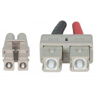 (€2,49*/1m) 10.00m Intellinet LWL Duplex Anschlusskabel 50/125 µm OM4 LC Stecker auf SC Stecker Violett LSOH / Multimode