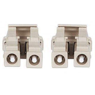 (€2,39*/1m) 10.00m Intellinet LWL Duplex Anschlusskabel 50/125 µm OM4 LC Stecker auf LC Stecker Violett LSOH / Multimode