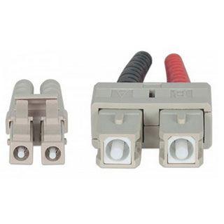 (€1,29*/1m) 10.00m Intellinet LWL Duplex Anschlusskabel 50/125 µm OM3 LC Stecker auf SC Stecker Aqua LSOH / Multimode