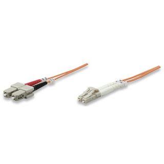 (€0,55*/1m) 20.00m Intellinet LWL Duplex Anschlusskabel 62,5/125 µm OM1 LC Stecker auf SC Stecker Orange LSOH / Multimode