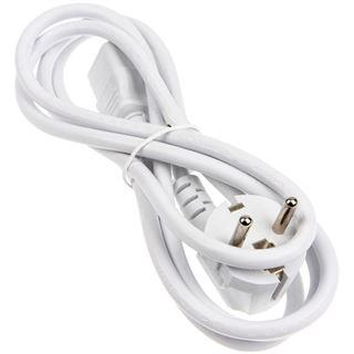 (€3,83*/1m) 1.80m Kolink International Stromkabel Anschlusskabel Schutzkontakt Stecker auf Kaltgeräte Stecker C13 Weiß