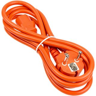 (€3,83*/1m) 1.80m Kolink International Stromkabel Schutzkontakt Stecker auf Kaltgeräte Stecker C13 Orange