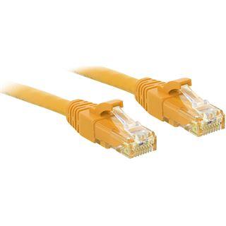 (€1,32*/1m) 7.50m Lindy Cat. 6 Patchkabel UTP RJ45 Stecker auf RJ45 Stecker Gelb Knickschutzelement / Rastnasenschutz
