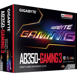 Gigabyte GA-AB350-Gaming 3 AMD B350 So.AM4 Dual Channel DDR4 ATX