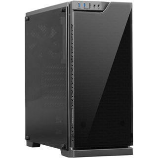 Cooltek TG-01 Basic Power Edition mit Sichtfenster Midi Tower 350 Watt schwarz
