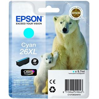 Epson Tinte 26 xl C13T26324022 cyan