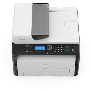 Ricoh SP 220SNw Laser-Multifunktionsgerät s/w (A4, 3-in-1, Drucker, Kopierer, Scanner, Netzwerk, WLAN, USB)