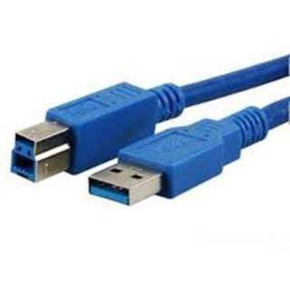 (€3,83*/1m) 1.80m MediaRange USB3.0 Anschlusskabel Super-Speed USB A Stecker auf USB B Stecker Blau