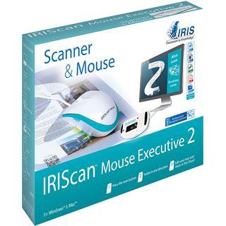 Iris IRIScan Mouse Executive 2 USB weiß/blau (kabelgebunden)