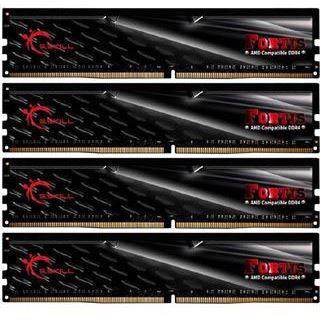 64GB G.Skill Fortis schwarz DDR4-2400 DIMM CL15 Quad Kit