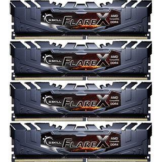 64GB G.Skill Flare X schwarz DDR4-2400 DIMM CL16 Quad Kit