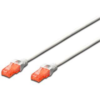 (€4,90*/1m) 1.00m Digitus Cat. 6 Patchkabel U/UTP RJ45 Stecker auf RJ45 Stecker Weiß